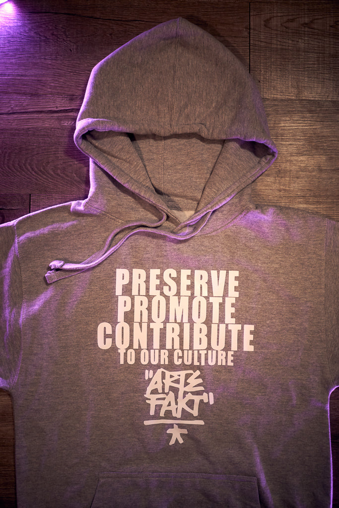 """P.P.C. OUR CULTURE"" HEATHER GREY HOODIE"