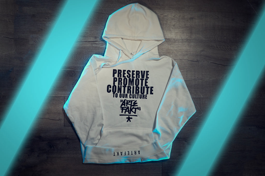 """P.P.C. OUR CULTURE"" WHITE HOODIE"