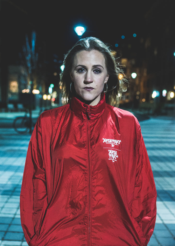 Red Windbreaker