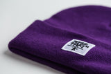 Purple Beanie (White Patch)