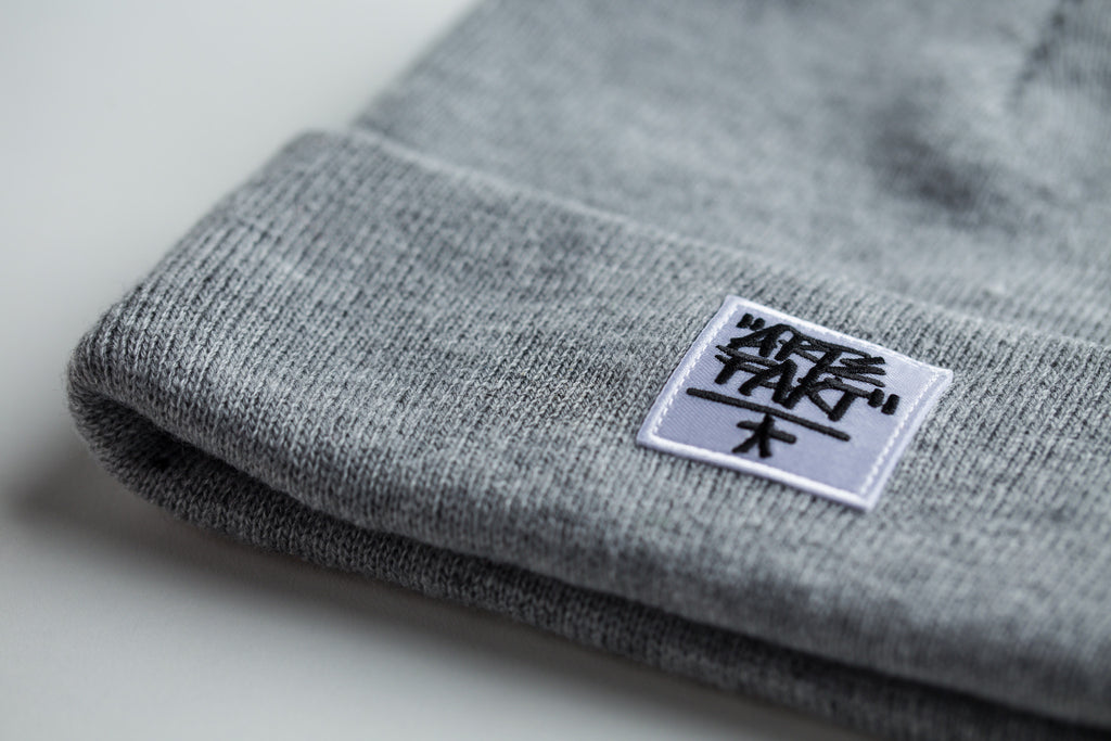 Gray Beanie (White Patch)