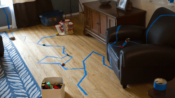 7 Ways To Use Tape To Entertain Kids Inside