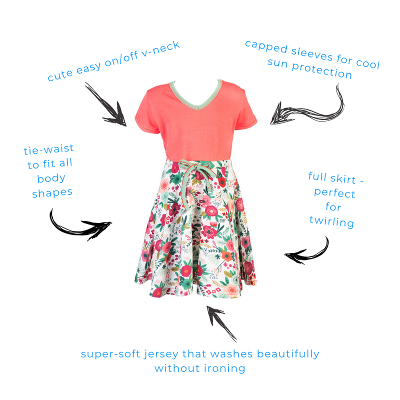 Lucille Retro Twirl Dress