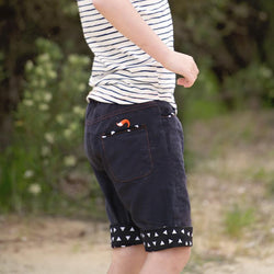roastedfox-colourful-childrens-kids-boys-girls-clothes-clothing-Black Rock Shorts-Bottoms-roastedfox