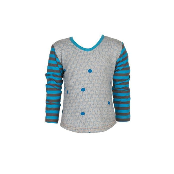 roastedfox-colourful-childrens-kids-boys-girls-clothes-clothing-Blue Lagoon L/S Tee-Tops-roastedfox