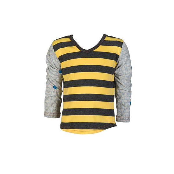 roastedfox-colourful-childrens-kids-boys-girls-clothes-clothing-Bumble L/S Tee-Tops-roastedfox