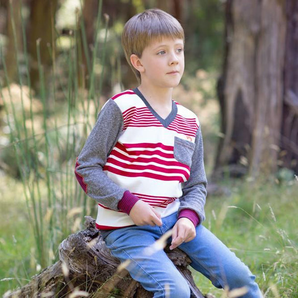 roastedfox-colourful-childrens-kids-boys-girls-clothes-clothing-Fire Keeper Jumper-Tops-roastedfox