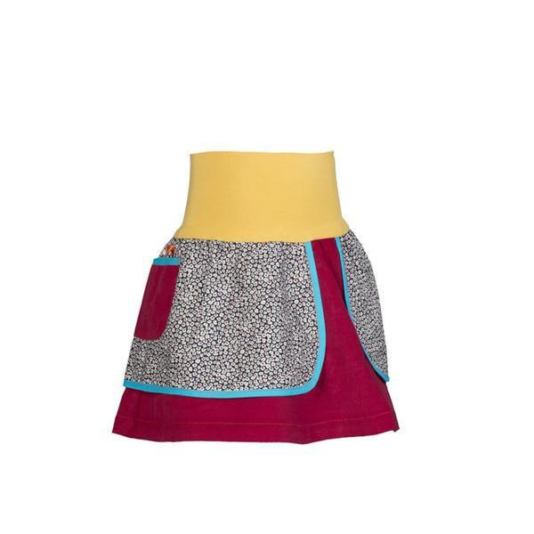 roastedfox-colourful-childrens-kids-boys-girls-clothes-clothing-Rainbow Eucalypt Skirt-Bottoms-roastedfox
