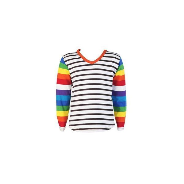 roastedfox-colourful-childrens-kids-boys-girls-clothes-clothing-Rainbow Favourite L/S Tee-Tops-roastedfox