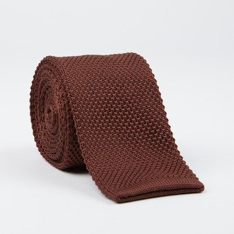 Knit Tie (chocolate)