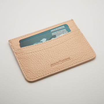 'The Nomad' Leather Cardholder (latte)