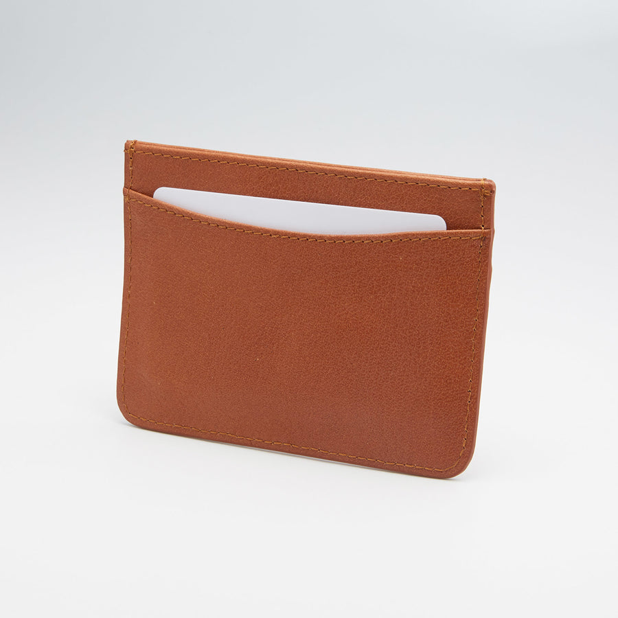 'The Nomad' Leather Cardholder (chestnut)