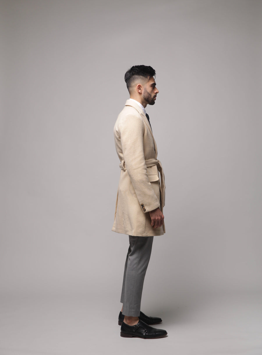 Double Breasted Slim Fit Overcoat (crepe)
