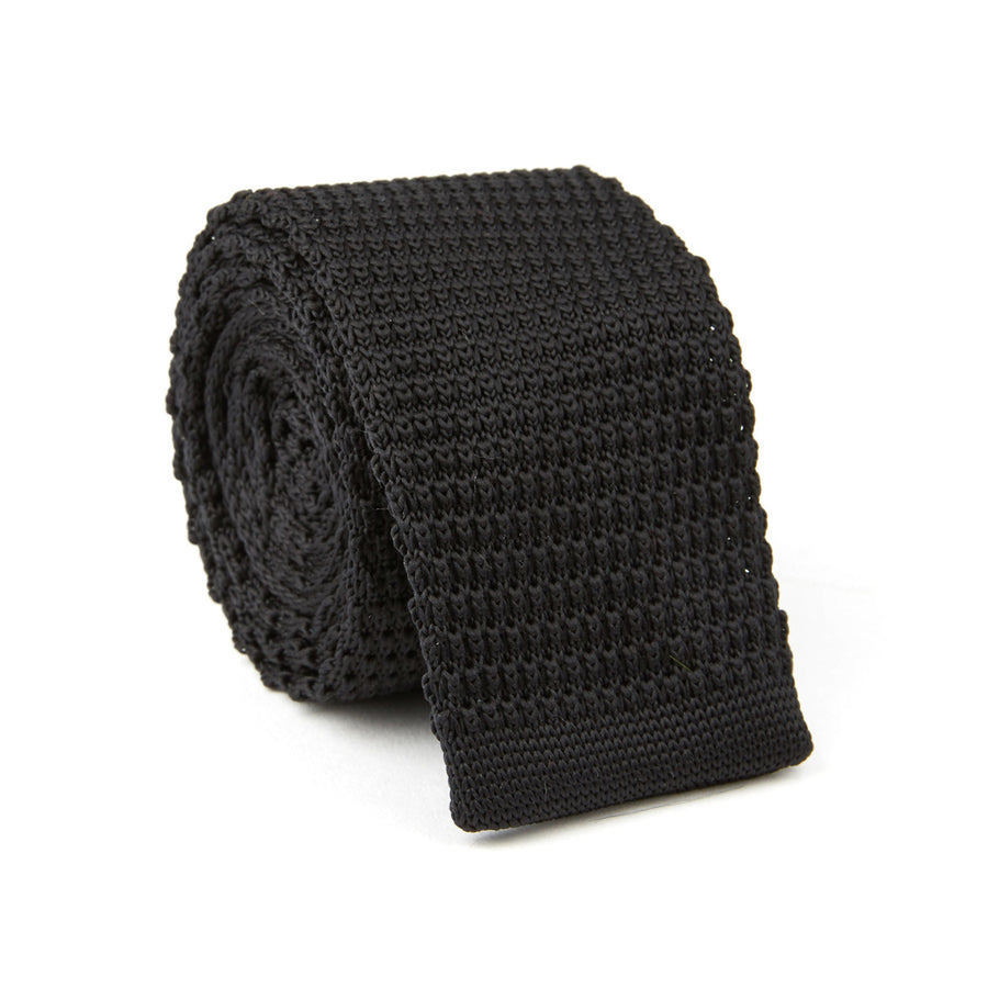 Knit Tie (midnight black)