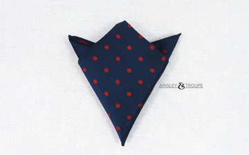The Traveler (navy & red polka dot)