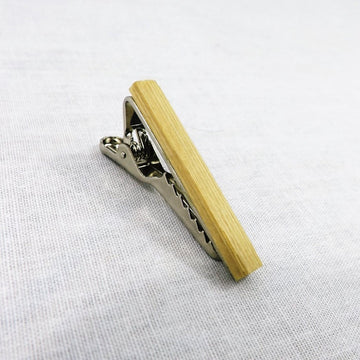 Wooden Tie Clip, Bamboo (1.5
