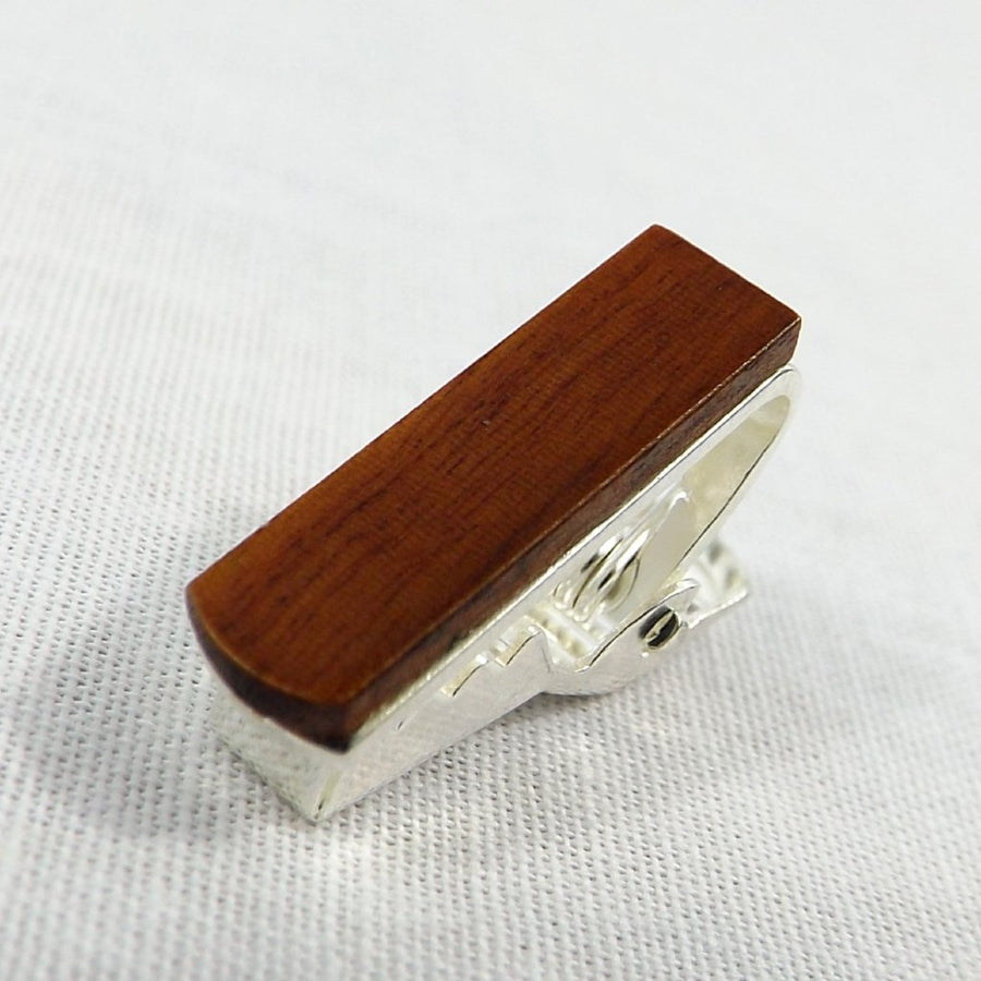 Wooden Tie Clip, Chocolate (.75
