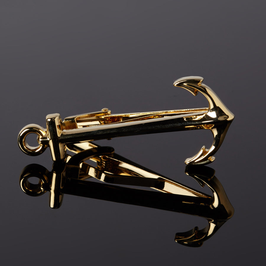 Anchor Tie Clip (gold)