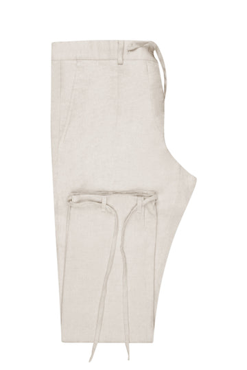 Sand Linen Suit Trousers