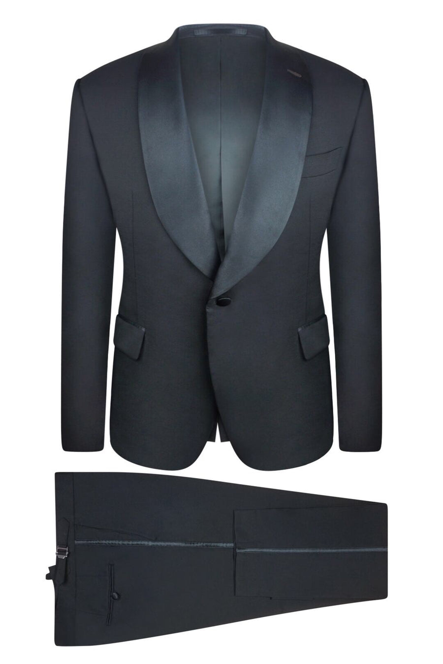 Midnight Black Slim Fit Tuxedo Pant
