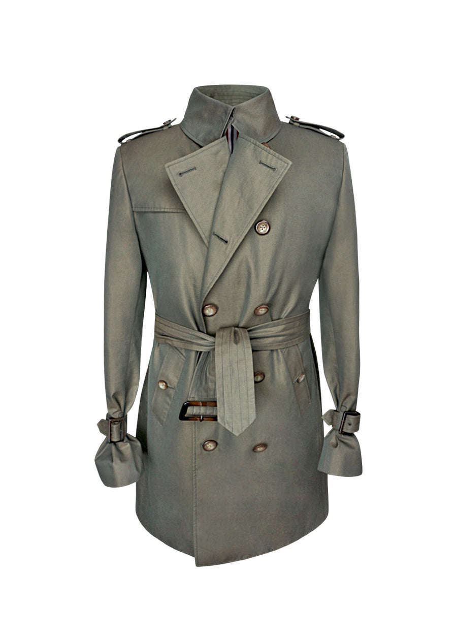 Waterproof Trench Coat (Taupe)