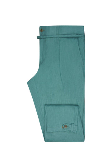 Seafoam Linen Suit Trousers