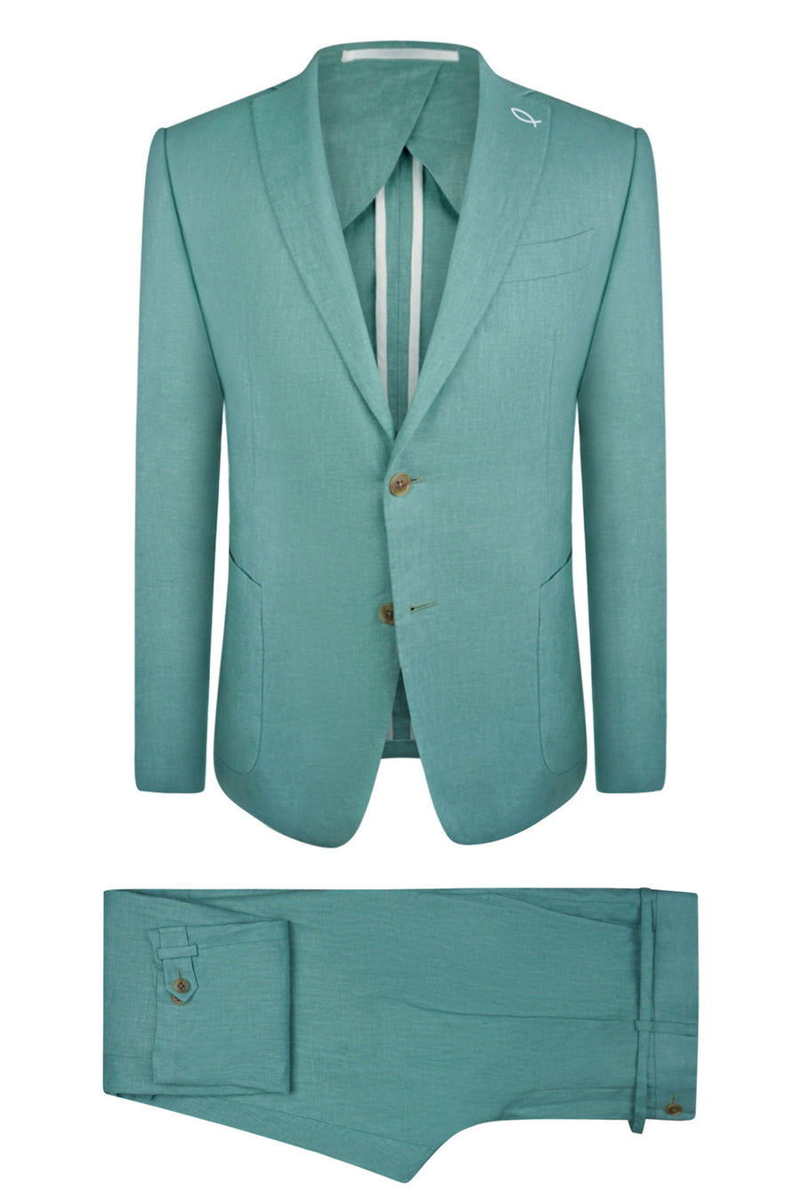 Seafoam Linen Suit Jacket