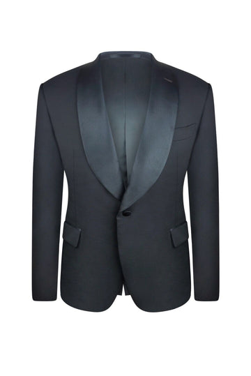 Midnight Black Slim Fit Tuxedo Jacket