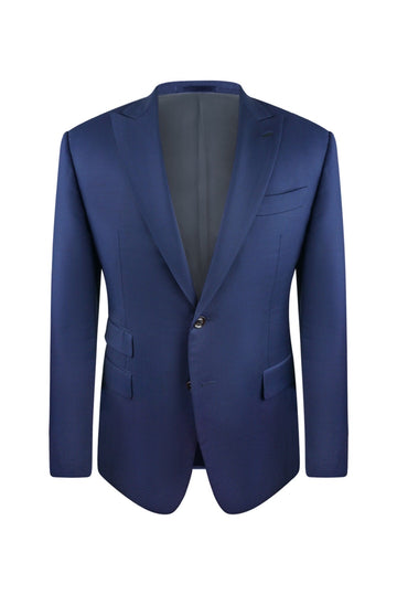 Navy Blue Slim Fit Suit Jacket