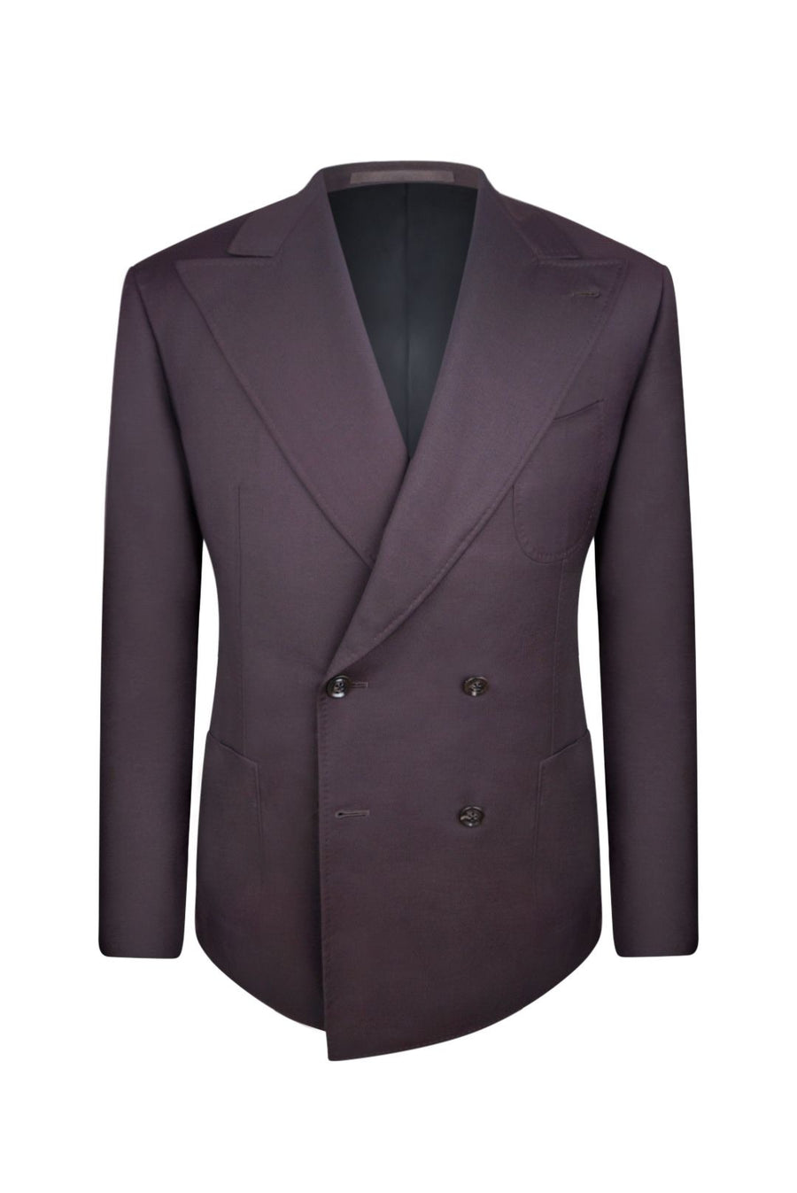 Midnight Mahogany Double Breasted Suit Jacket