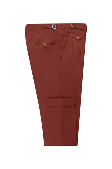 Burnt Sienna Suit Pant