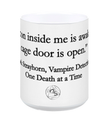 "JACK'S DEMON INSIDE MUG - ""The demon inside me is awake and the cage door is open"""