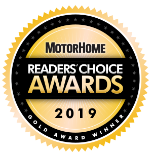 MOTORHOME GIVES THE GOLD READERS' CHOICE AWARD TO ADCO RV COVERS