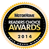 Motorhome Readers Choice Gold Award 2014