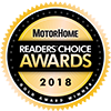 MotorHome 2018 Gold Readers Choice Award For ADCO
