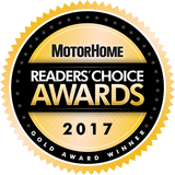 Motorhome Readers Choice Gold Award 2017