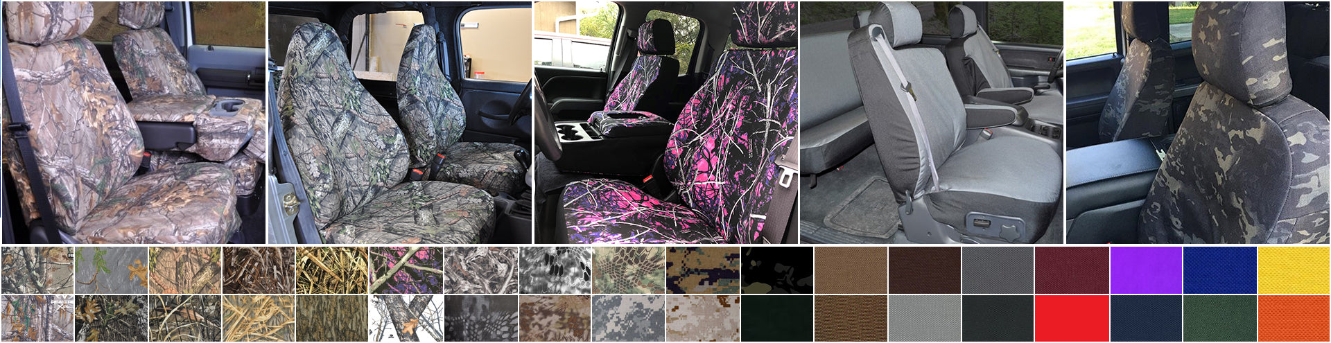 Marathon Seat Covers Over 40 Plush Camo and Solid Color Options