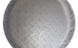 Diamond Plated Steel Vinyl Tire Cover