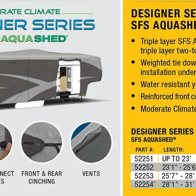 ADCO 52253 SFS AquaShed 5th Wheel and Toy Haulers RV Cover