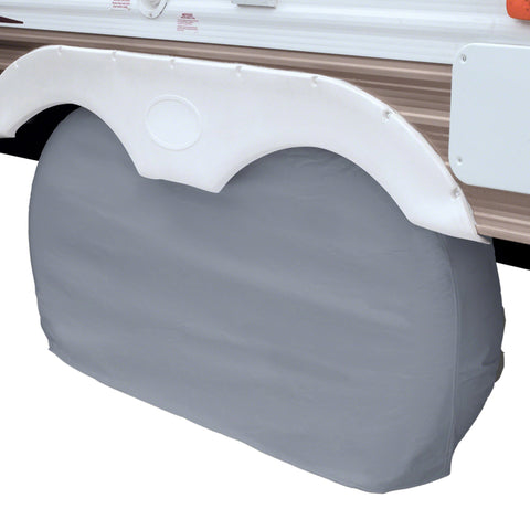 Classic Accessories X-Large Grey RV Dual Axle Wheel Cover