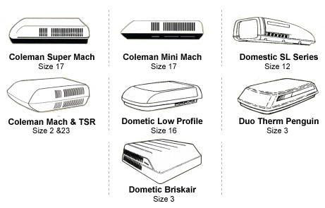 Duo ThermPenguin I & II Dometic (Low profile CA series) Air Conditioner Cover