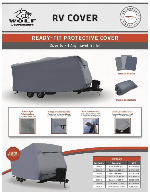Wolf Ready-Fit Travel Trailer Cover
