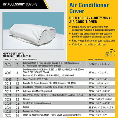 Carrier Low Profile Air Conditioner Cover