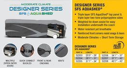 Designer Series SFS Aqua Shed Class A RV Cover