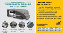 Designer Series SFS Aqua Shed Class C RV Cover
