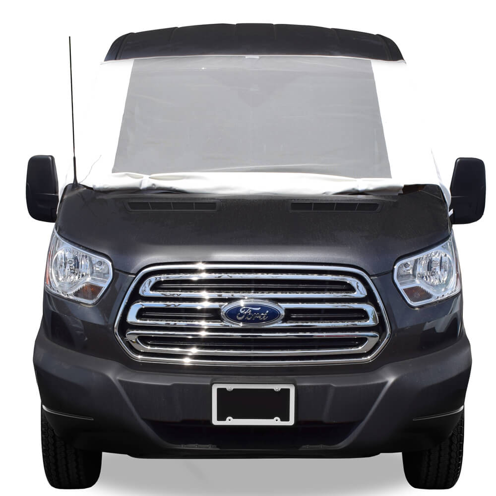 Ford Transit With Deluxe Privacy Windshield Cover
