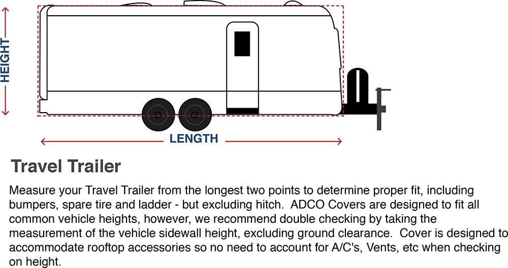 Designer Series Tyvek Travel Trailer RV Cover
