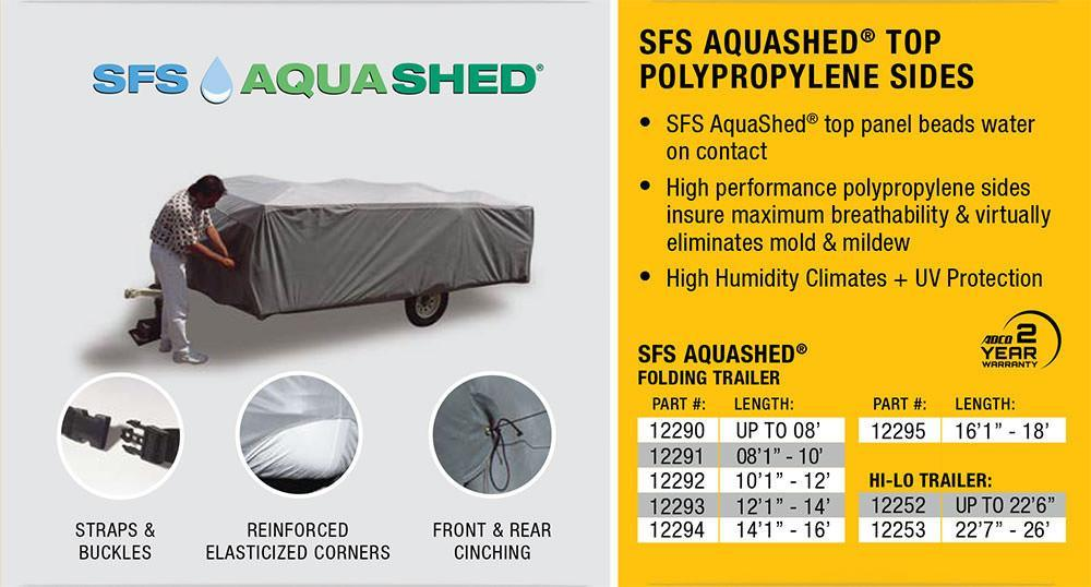 SFS Aqua Shed Pop Up Trailer Cover