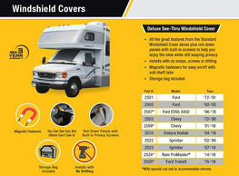 Ford Class C Windshield Cover With Privacy Winsow Features