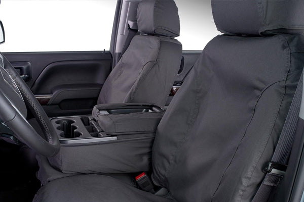 Polycotton Seat Covers - Charcoal Front Seat Covers